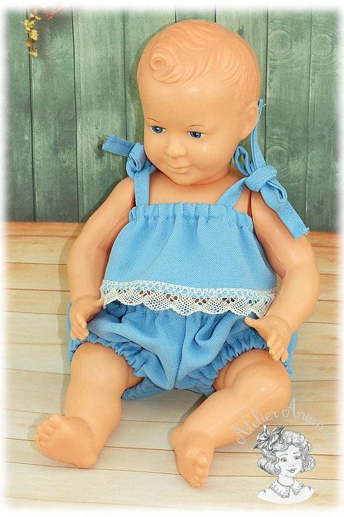 Reproduction d'une tenue d'origine pour poupée Bella Pi 105 de 25 cm