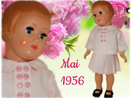 Ma réalisation pour poupée Françoise de Modes et Travaux Mai 1956