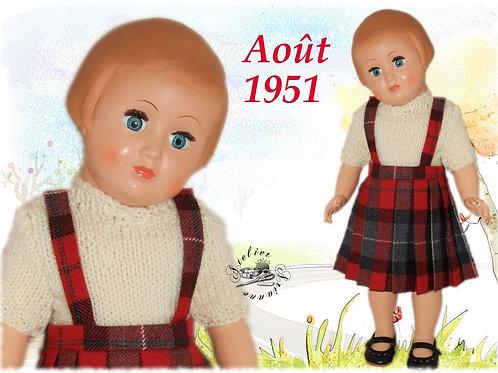 Tenue pour poupée Françoise Modes et Travaux Août 1951