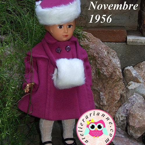 Tenue pour poupée Françoise Modes et Travaux Novembre 1956