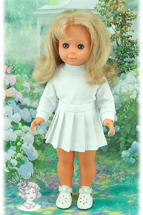 T-shirt à manches longues en jersey pour poupée Marie-Françoise