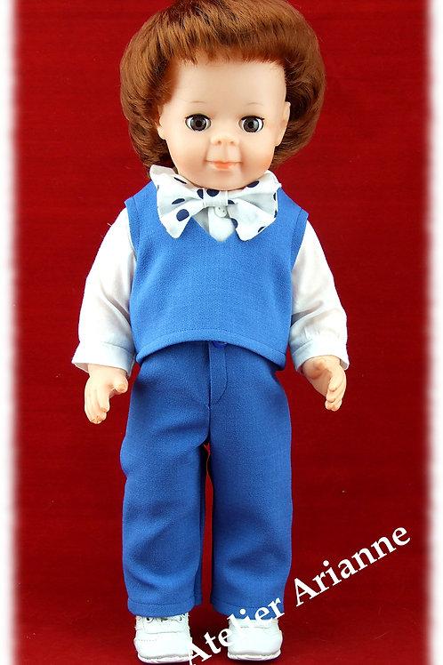 Tenue octobre 1980 pour poupée Jean-Michel Modes et Travaux