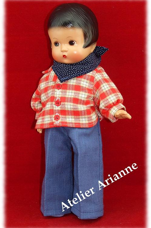 Tenue Mateo pour poupée Skippy ou Patsy 33 cm