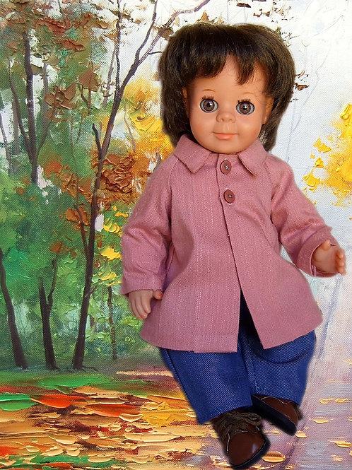 Tenue pour poupée Michel, Jean-Michel  Modes et Travaux Avril 1965