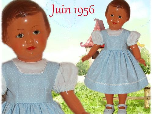 Tenue poupée Modes et Travaux pour Françoise Juin 1956