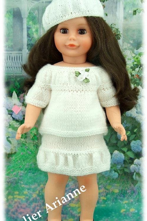 Tenue Lena tricot pour poupée Marie-Françoise Modes et Travaux