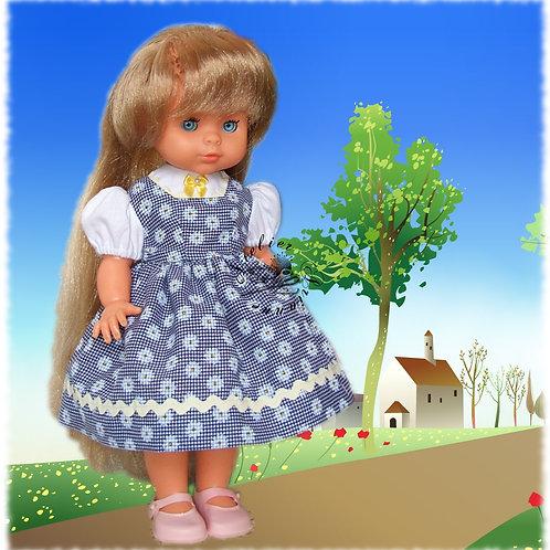 """Tenue """"Pâquerette"""" pour poupée Bella , Corolle ou Paola Reina 33 cm"""
