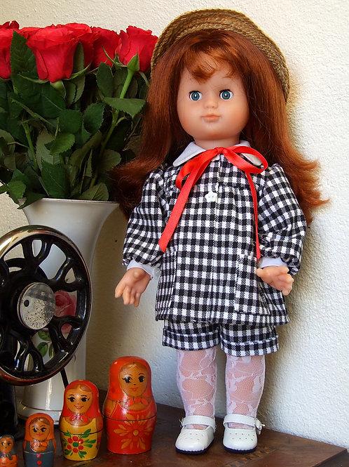 Tenue pour poupée Emilie Modes et Travaux Avril 1988