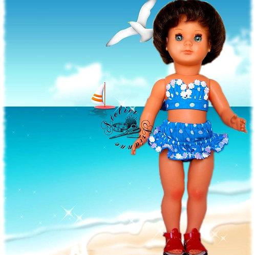 Tenue pour poupée Françoise , Marie- Françoise Modes et Travaux juillet 19