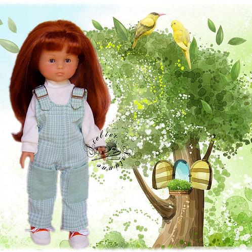 Tenue Salopette pour poupée Corolle ou Paola Reina 33 cm