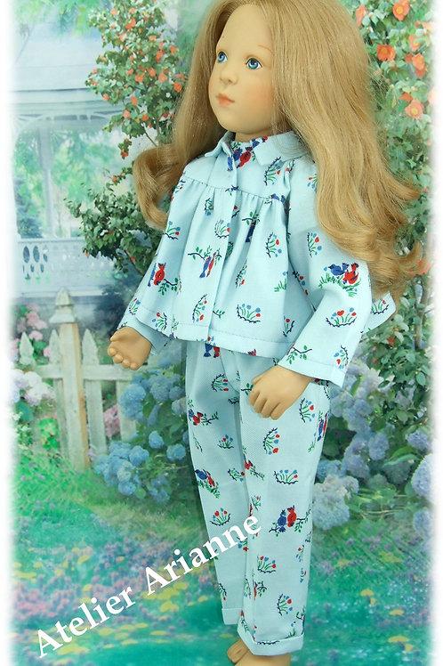 Tenue Paule, pyjama pour poupée Finouche de Petitcollin