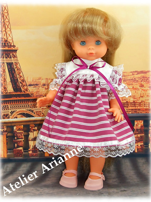 Tenue Magnolia pour poupées Corolle, Paola Reina, Bella, Minouche 33-35 cm