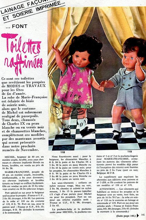 Page Modes et Travaux Octobre 1967 avec mini patron