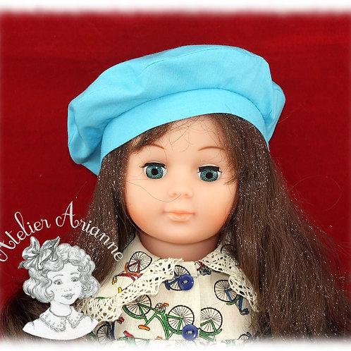 Béret pour poupée Françoise de Modes et Travaux