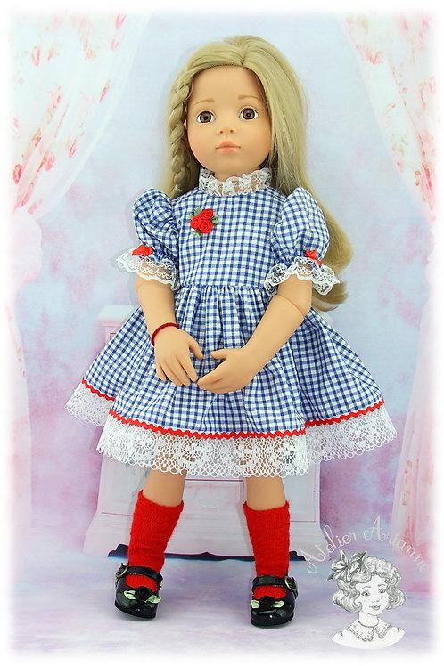 Tenue Dorothée pour poupées : Gotz, Raynal, GéGe et autres de 45-48 cm