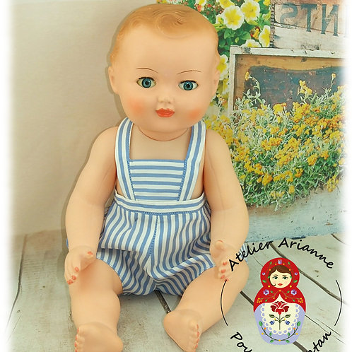 Tenue pour poupée Michel  Modes et Travaux Juillet 1962