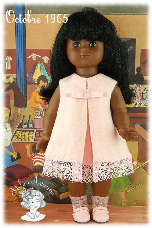 Octobre 1965 - Robe Lilou pour poupée Emilie Modes et Travaux