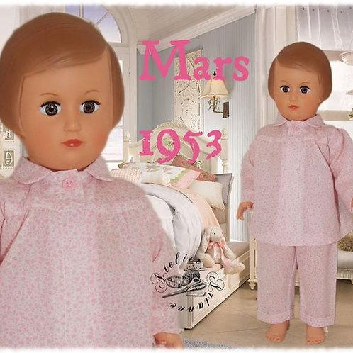 Tenue M&T pour Françoise Mars 1953
