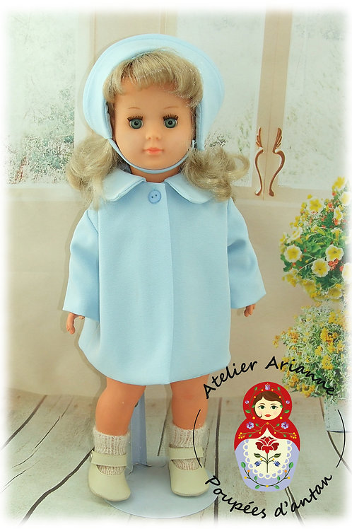 Décembre 1960 Tenue pour poupée Marie-Françoise Bleu