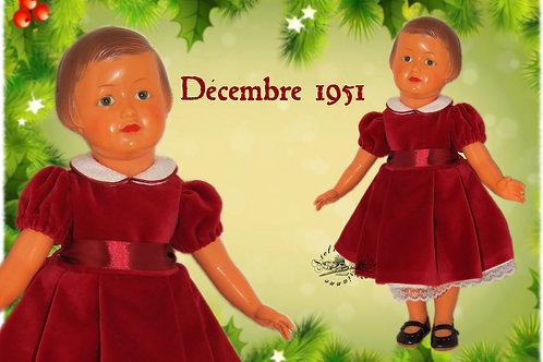 Tenue Françoise Rouge Décembre 1951