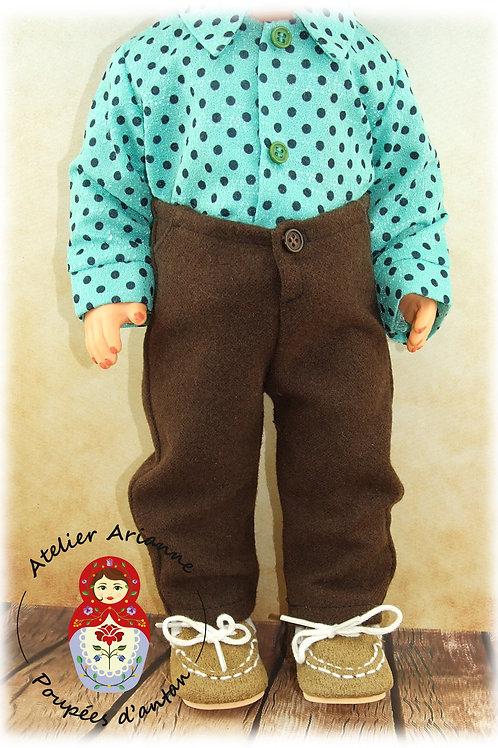 Pantalon pour poupée Modes et Travaux : Jean Michel