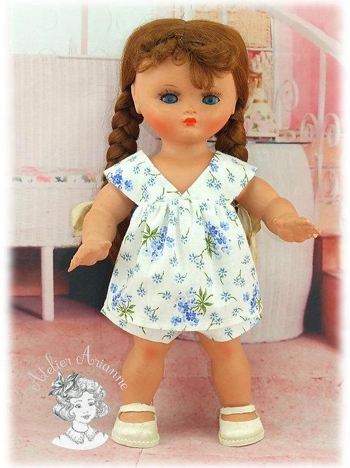 Reproduction d'une tenue d'origine pour poupée Mimi de GéGé de 26 cm