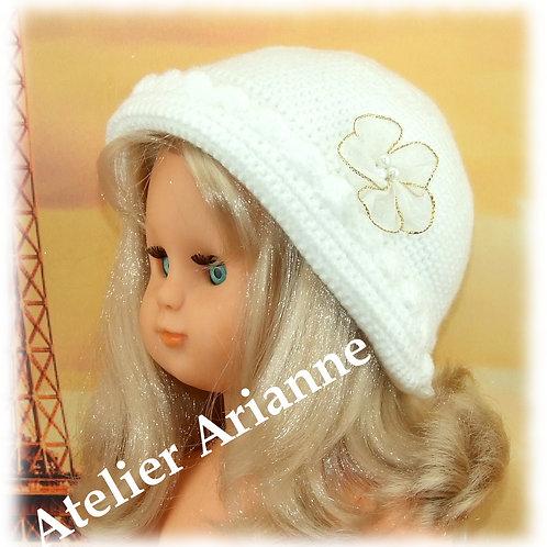 Chapeau au crochet  pour poupée Emilie Modes et Travaux