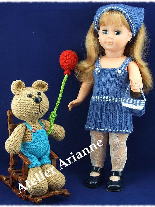 Tenue Helene tricot pour poupée Marie-Françoise Modes et Travaux