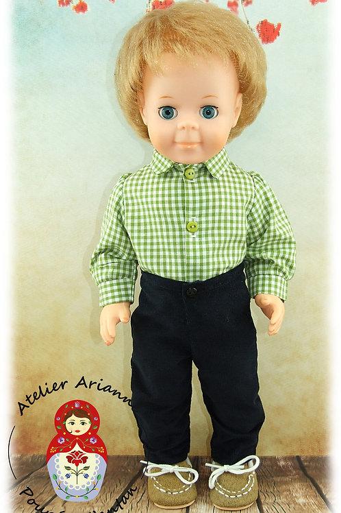 Chemise pour poupée Modes et Travaux : Jean Michel