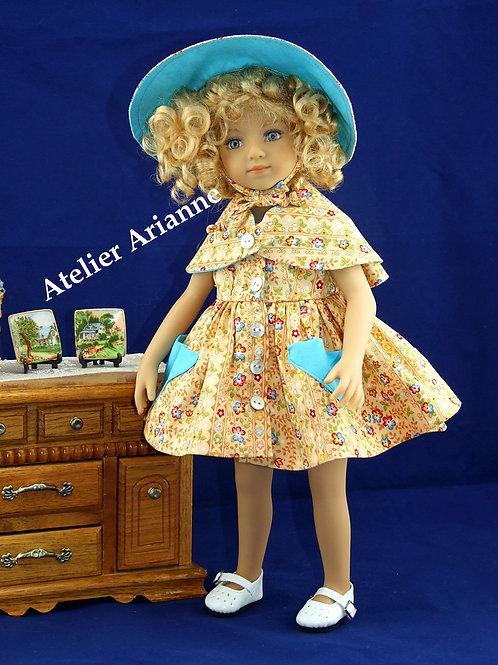 Tenue Annie, poupée Minouche, Mini Maru, Little Darling, Bella, Gégé 30-35 cm