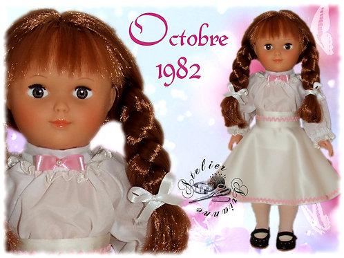 Tenue pour poupée Françoise Modes et Travaux Octobre 1982