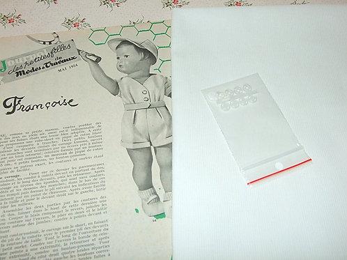 Kit 50 couture Modes et Travaux Françoise mai 1954