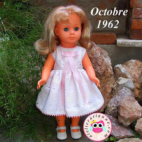 Réservé pour Nathalie Tenue octobre 1962 pour poupée Françoise Modes et Travaux
