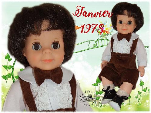Tenue pour poupée Jean-Michel et Michel Modes et Travaux Janvier 1978