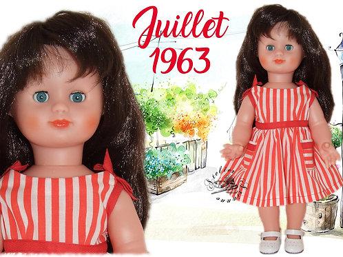 Tenue pour poupée Emilie Modes et Travaux Juillet 1953