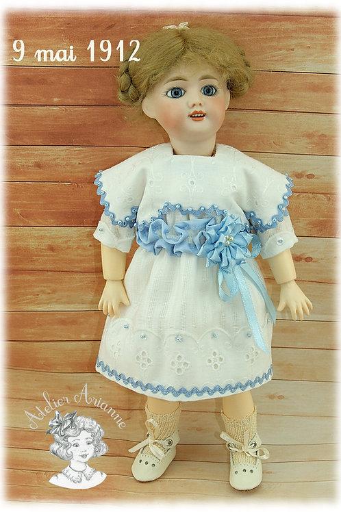 Modèle exclusif - Reproduction de tenue pour poupée Bleuette - 9 mai 1912