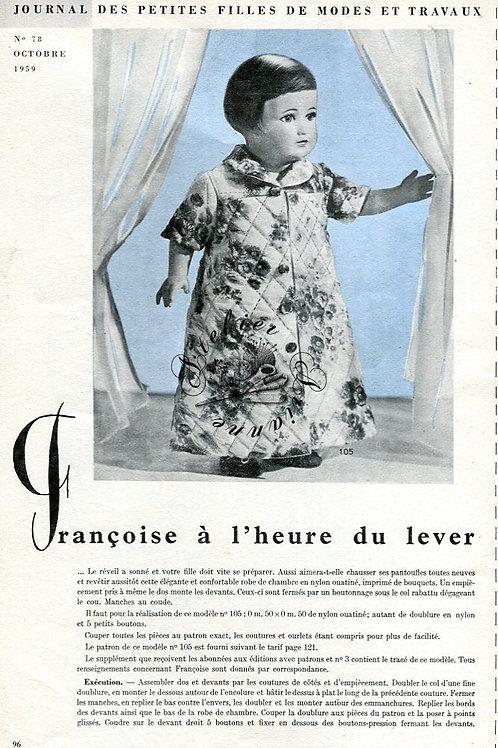 Page Modes et Travaux Octobre 1959