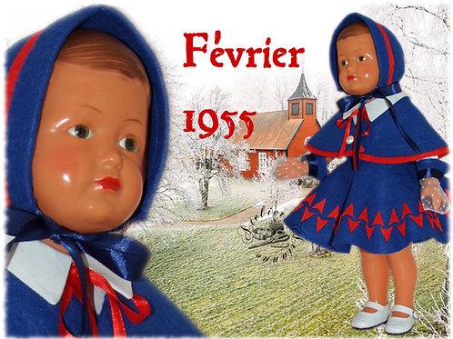 Tenue M&T pour Françoise , Marie-Françoise Février 1955