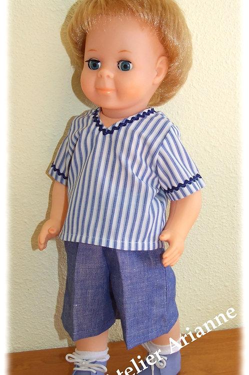Tenue pour poupée  Jean-Michel Modes et Travaux Juin 1976