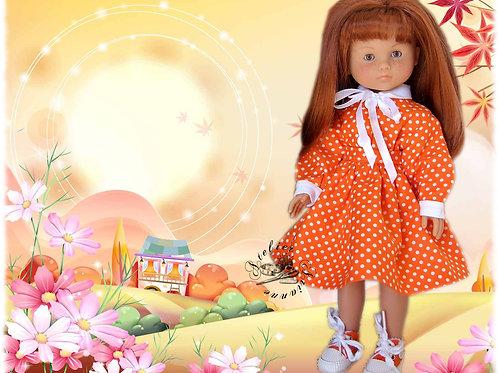 Tenue Mandarine pour poupée Corolle ou Paola Reina 33 cm