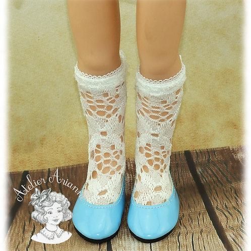 Chaussettes en dentelle ajourée pour poupée Chérie de Corolle et Paola Reina
