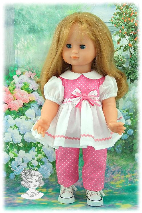 Tenue Olive pour poupée Emilie de Modes et Travaux