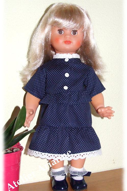 Tenue pour poupée Emilie de Modes et Travaux Juin 1987