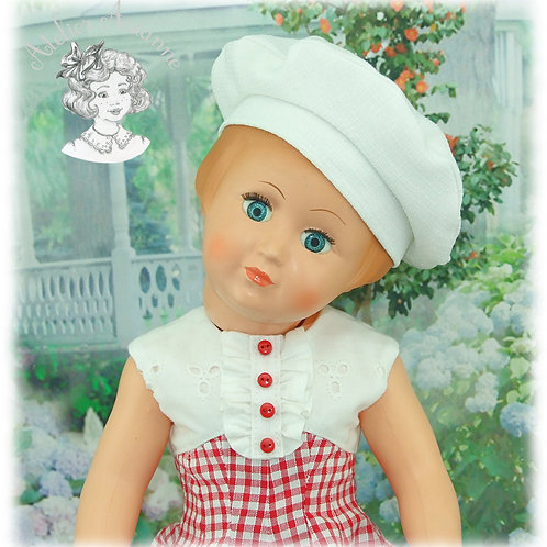 Béret pour poupées : Vidal Rojas et Françoise de Modes et Travaux