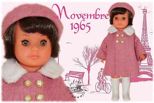 Tenue pour poupée Françoise Modes et Travaux Novembre 1965
