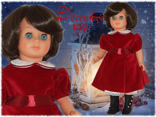 Tenue pour poupée Françoise Modes et Travaux Décembre 1951