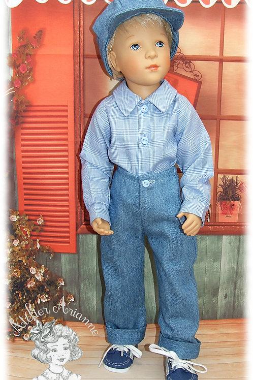 Hugo - tenue  pour poupée Finouche garçon
