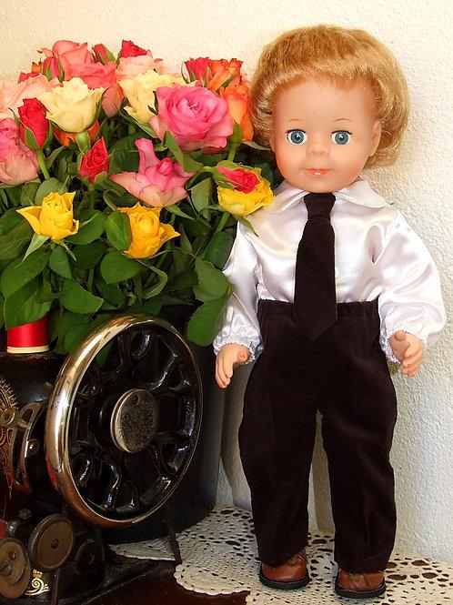 Tenue pour poupée Jean-Michel Modes et Travaux Décembre 1984