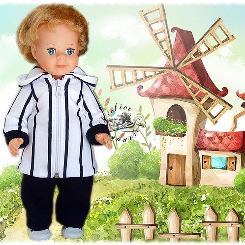 Tenue pour poupée Jean-Michel Modes et Travaux Rayures