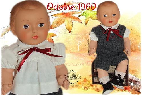 Réservé pour Claudine Tenue poupon Modes et Travaux Michel Octobre 1960